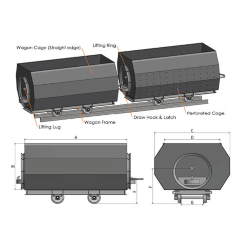 Wagon range to transport large quantities of heavy produce